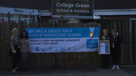 College Green School teachers have been given a Service Gold Unicef RRSA. Picture: Wendy Yianni