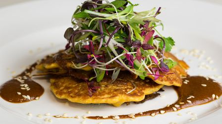Kimchi pancakes are a popular choice for customers at Stem + Glory in Cambridge. Picture: Katherine
