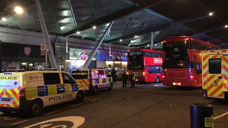 Finsbury Park Station was evacuated due to a 'customer incident'. Picture: Duncan Nielsen