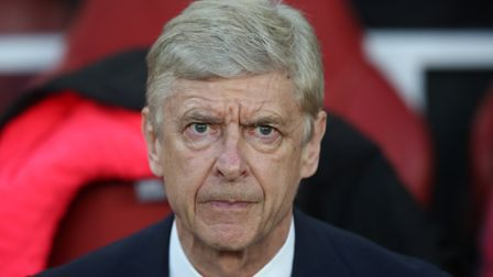 Arsenal manager Arsène Wenger at the UEFA Europa League game between Arsenal v Atlético Madrid at th