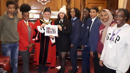The mayor of Islington met with youth councillors to discuss key issues. From leftt, deputy young ma