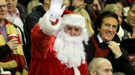 Santa Claus is often spotted in sports grounds at this time of year (pic: Nick Potts/PA)