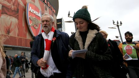 Which will come first, Jeremy Corbyn getting elected PM or Arsenal winning the Premier League? (Pict