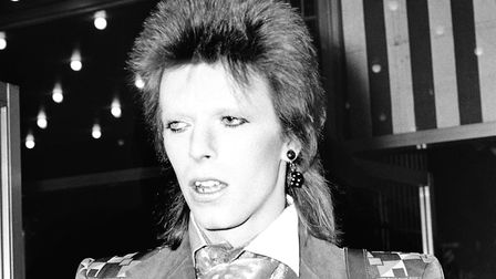 David Bowie as Ziggy Stardust in 1972, months before playing the first of his three shows at Finsbur