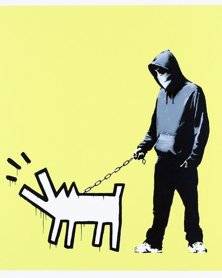 An original screenprint of Banksy's Choose Your Weapon will be on display from Gormley's Fine Art.