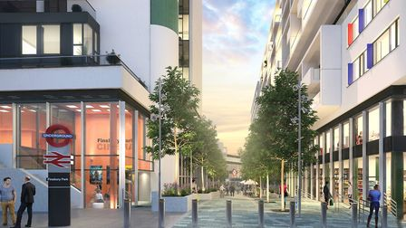 A CGI of City North with the cinema on the left. Picture: Telford Homes
