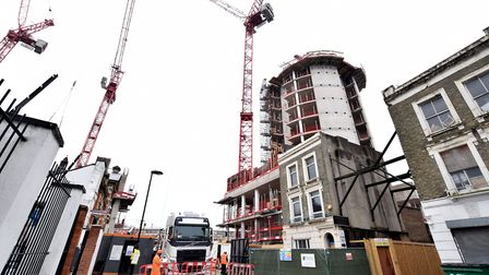The City North development in Finsbury Park has been criticised for its lack of affordable housing -