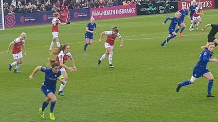 Arsenal Women hosted Chelsea Women at Meadow Park on Sunday in the WSL. CREDIT @laythy29