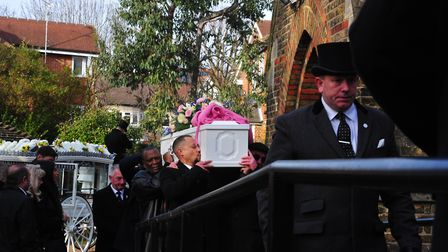 Tracey Wilson's funeral on Friday. Picture: David Winskill