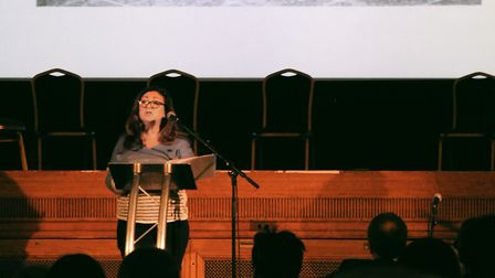 Tracey Moses speaks at Holocaust Memorial Day in Islington Assembly Hall. Picture: Islington Council