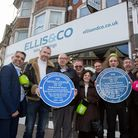 Friends and family launch Henry Cooper's blue plaque at the site of the boxer's former shop in Wemb