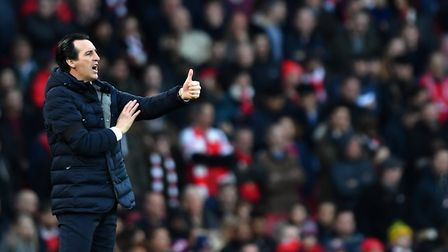 Arsenal manager Unai Emery during the Premier League match at the Emirates Stadium (pic Dominic Lipi