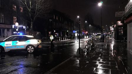 The scene of the fatal stabbing in Caledonian Road. Picture: Cllr Paul Convery