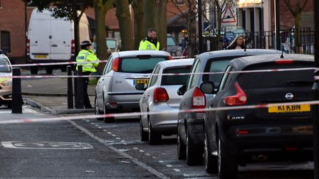 Police tape outside Coatbridge House on Wednesday morning. Picture: Polly Hancock