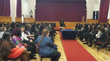 Dawn Butler MP attended Convent of Jesus and Mary Language College's first Student Parliament event.