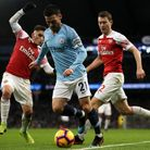 Manchester City's David Silva (centre) in action. PA