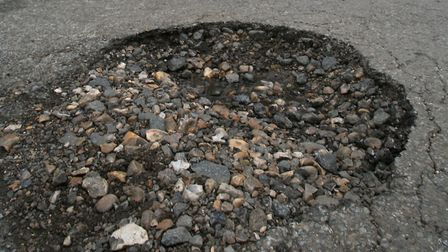 Potholes have increased due to reent weather. Picture: PA