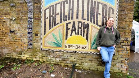 Liz McCallister at Freightliners Farm. Picture: Polly Hancock