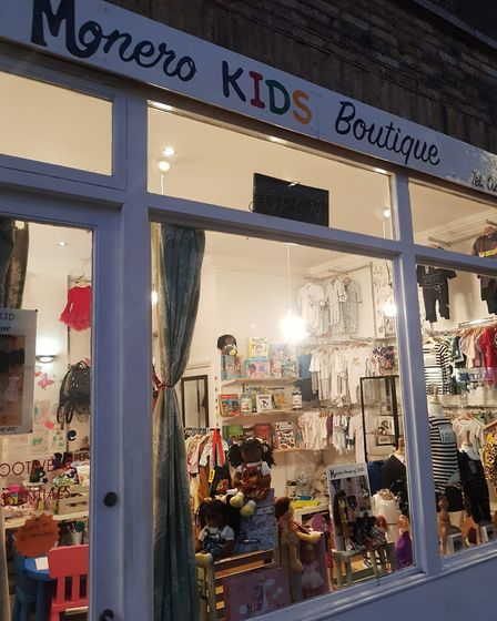 Monero Kids Boutique in Balls Pond Road.