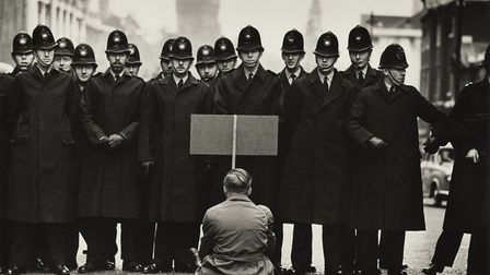 A protestor of the Cuban Missile Crisis, 1962. Picture: Don McCullin