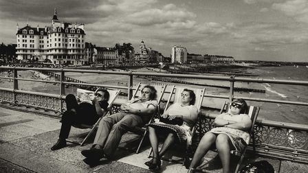 Seaside pier on the south coast, Eastbourne, 1970s. Picture: Don McCullin