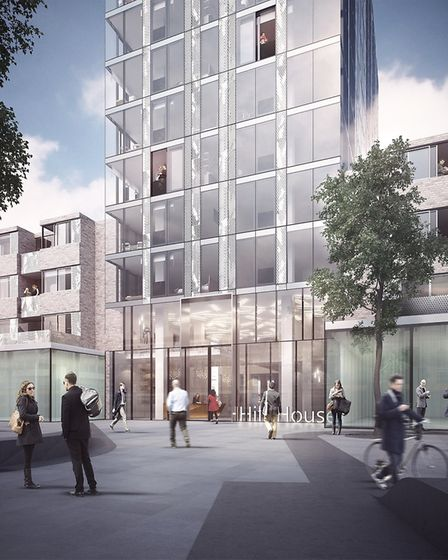 An artist's impression of Hill House in Archway, where permitted development rules mean no affordabl