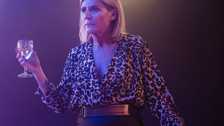 Michelle Collins in My Dad's Gap Year, Park Theatre, picture by Pamela Raith