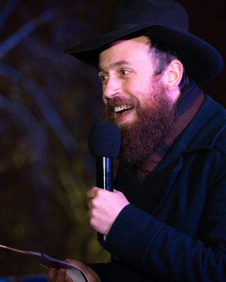 Rabbi Mendy Korer on stage. Picture: Siorna Ashby