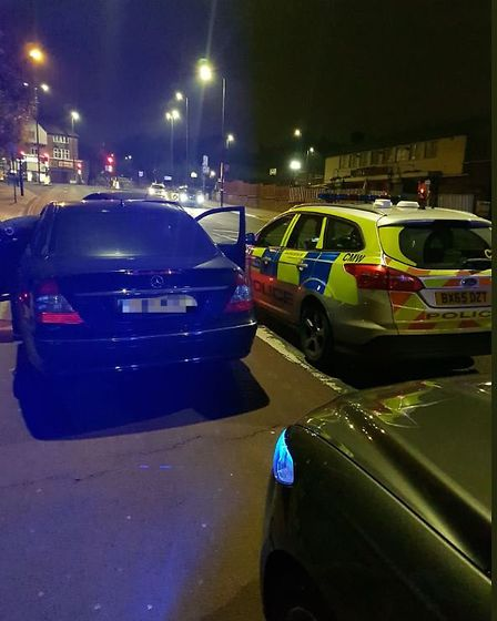Vinod Patel stopped by police after reversing into officers. Picture: Met Police