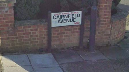 Cairnfield Avenue in Neasden. Picture: Google Maps