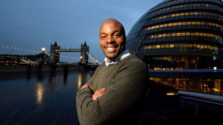 Shaun Bailey photographed for the Brent & Kilburn Times outside City Hall. Picture: Polly Hancock
