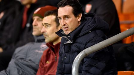 Arsenal manager Unai Emery has hailed injured Hector Bellerin. PA