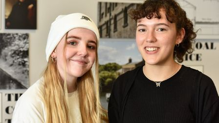 Lucy Palmer (left), 18, from Camden, and Eleanor Miller, 18, from Islington, who both got jobs in th