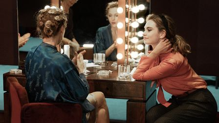 Gillian Anderson and Lily James in All About Eve