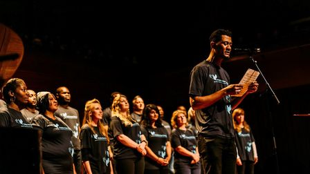 Sing for Freedom choir performing at a Milton Court concert. Picture: Freedom from Torture