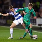 Queens Park Rangers' Jake Bidwell (left) and Watford's Will Hughes battle for the ball (pic: John Wa