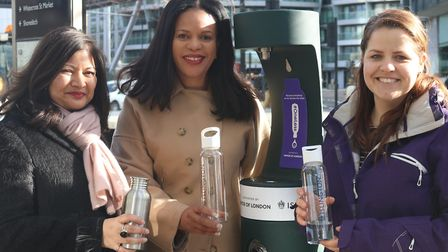 Launch of new Old Street drinking fountain with (L-R) London Deputy Mayor for Environment and Energy