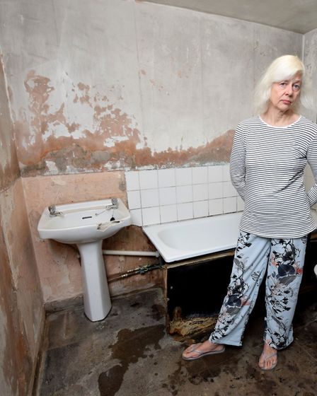 Stock image of partners tenant Jacqueline Cuthbert, showing disrepairs in her house. Picture: Polly