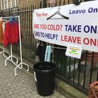 The Take One Leave One coat rail in Exmouth Market has proved popular. Picture: Catherine Wiltshire
