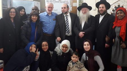 Jeremy Corbyn at Visit My Mosque Day. Picture: Labour Party