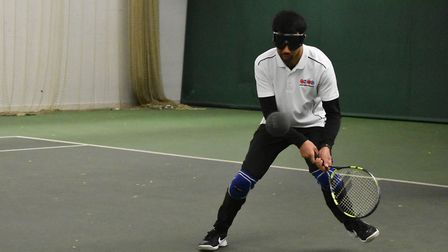Action from the Metro Blind Sports tennis tournament in Islington