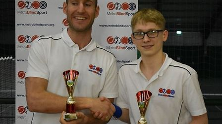 Matt Page and Ewan Hayward won the partially-sighted men's doubles