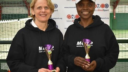 Brenda Cassell and Amanda Green won the partially-sighted women's doubles