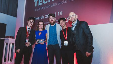 Dani Ismailov of Alice, Anne Sheehan, director of Vodafone Business, Rapha�l Mazet and Dhen Padilla