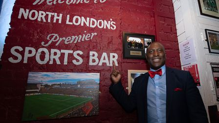 Former Arsenal footballer Kevin Campbell at a Q&A event at Islington Sports Bar & Grill. Picture: MA