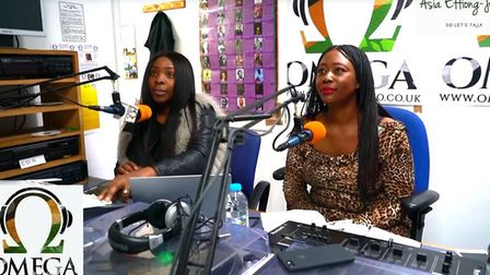 "Regular presenter Asia (left) has also denounced the broadcast, saying: ""Omega FM is not a racist st"