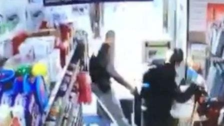 The moment the man is stabbed in Nisa, Caledonian Road.