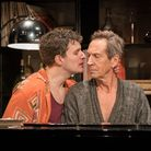 Ben Allen as Rufus and Jonathan Hyde as Beau in Gently Down The Stream at Park Theatre