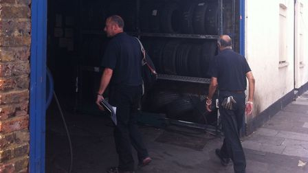Brent's trading standards team out to find dodgy tyre sellers. Picture: Brent Council