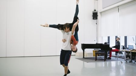 Taylor and Prudames in rehearsals for Victoria. Picture: Drew Forsyth